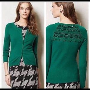 Anthropologie Sparrow Green Sweater/Cardigan  A240